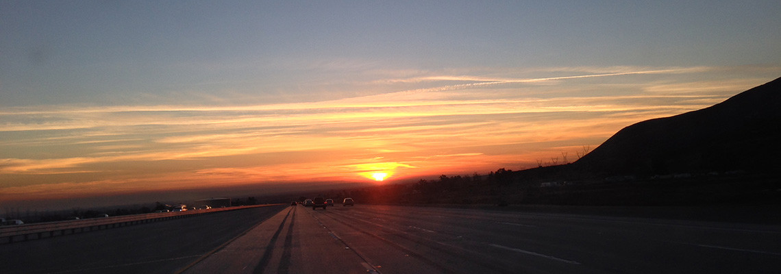 Sunset on the Freeway